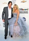 Mike Fisher, Carrie Underwood kommt zu den Anschlagtafel-Preisen 2012 lizenzfreies stockfoto
