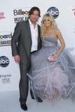 Mike Fisher et Carrie Underwood aux arrivées 2012 de récompenses de musique de panneau-réclame, Mgm Grand, Las Vegas, nanovolt 05- Photo libre de droits