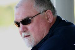 Mike Gatting. Close up portrait stock images