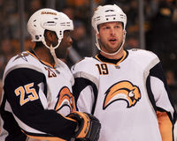 Mike Grier, Buffalo Sabres Royalty-vrije Stock Foto's