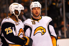 Mike Grier and Tim Connolly Buffalo Sabres Royalty Free Stock Image