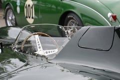 Mike Hawthorn 1955 Jaguar D-type. Stock Photos