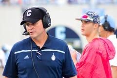 Mike Houston, l'allenatore di football americano della testa della cittadella Fotografia Stock Libera da Diritti