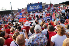 Mike Huckabee Speaking at McCain Rally stock photography