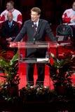Mike Illitch Speaks At Steve Yzerman Night Stock Photo