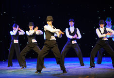 Mike Jackson imitation-The campus dance Royalty Free Stock Images
