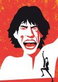 Mike Jagger i Rolling Stone, ritratto di vettore illustrazione vettoriale
