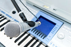 Mike and keyboard Royalty Free Stock Photo