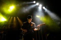 Mike Krol zespół w koncercie przy Primavera klubu 2015 festiwalem Obraz Stock