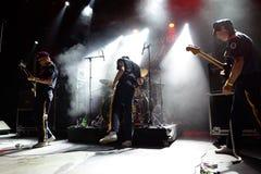 Mike Krol zespół w koncercie przy Primavera klubu 2015 festiwalem Obraz Royalty Free