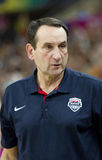 Mike Krzyzewski, coach of USA Royalty Free Stock Image