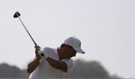 Mike Lorenzo Vera en el desafío 2013 del golf de Pleneuf Val Andre Foto de archivo