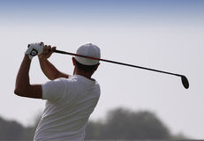 Mike Lorenzo Vera en el desafío 2013 del golf de Pleneuf Val Andre Imagenes de archivo