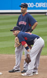 Mike Lowell and Dustin Pedroia Royalty Free Stock Photography