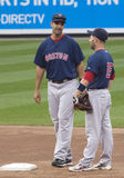 Mike Lowell et Dustin Pedroia image stock