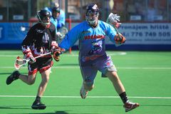 Mike Nadler - box lacrosse Royalty Free Stock Photography