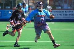 Mike Nadler - Kasten Lacrosse Lizenzfreie Stockfotografie