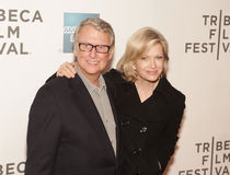 Mike Nichols en Diane Sawyer Royalty-vrije Stock Fotografie