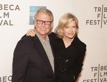 Mike Nichols und Diane Sawyer lizenzfreie stockfotografie