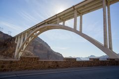 Mike O`Callaghan - Pat Tillman Memorial Bridge. Over the Colorado river at the Hoover Dam, NV, USA Stock Image