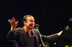 Mike Patton - Faith no More. Rio de Janeiro, Brazil, September 24, 2011 Royalty Free Stock Photo