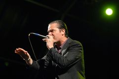 Mike Patton - Faith no More. Rio de Janeiro, Brazil, September 24, 2011 Stock Photography