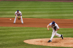 Mike Pelfrey και Δαβίδ Wright, New York Mets Στοκ Εικόνα