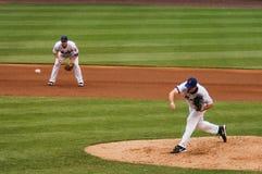 Mike Pelfrey och David Wright, New York Mets Fotografering för Bildbyråer