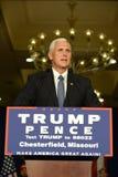 Mike Pence Rally för trumf Arkivfoto