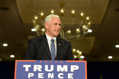 Free Mike Pence Rally For Trump Stock Image - 79753121