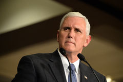 Mike Pence Rally pour l'atout Photographie stock