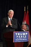 Mike Pence Rally pour l'atout image stock