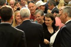 Mike Pence Rally pour l'atout Images libres de droits