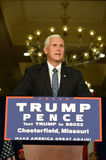 Mike Pence Rally for Trump. Chesterfield, MO, USA – September 06, 2016: Republican vice presidential candidate, Indiana Governor Mike Pence speaks to Stock Photo