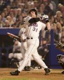 Mike Piazza-het slaan in de 2000 Wereldreeks Royalty-vrije Stock Foto