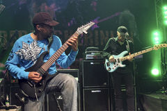 Mike Portnoy, Billy Sheehan, Tony MacAlpine and Derek Sherinian in Concert Royalty Free Stock Photo
