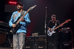 Mike Portnoy, Billy Sheehan, Tony MacAlpine and Derek Sherinian in Concert Stock Images