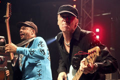 Mike Portnoy, Billy Sheehan, Tony MacAlpine e Derek Sherinian no concerto Fotografia de Stock Royalty Free