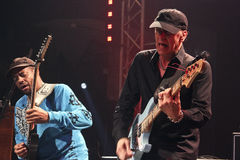 Mike Portnoy, Billy Sheehan, Tony MacAlpine e Derek Sherinian no concerto Fotos de Stock