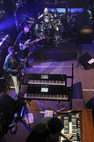 Mike Portnoy, Billy Sheehan, Tony MacAlpine e Derek Sherinian no concerto Imagem de Stock