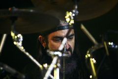 Mike Portnoy, Billy Sheehan, Tony MacAlpine y Derek Sherinian en concierto Fotos de archivo