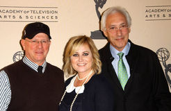 Mike Post, Steven Bochco. Mike Post with Maureen McCormick and Steven Bochco at the Another Opening, Another Show: A Celebration Of TV Theme Music presented by Royalty Free Stock Image