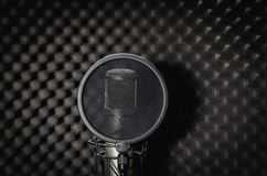 Mike recording studio on a black background. Stock Images