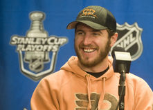 Mike Richards. Talks with the media after Tuesday's 3-0 over Montreal Stock Image