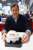 Mike Richter, New York Rangers Goalie and Hall of Famer,  during autographs session in New York Stock Image