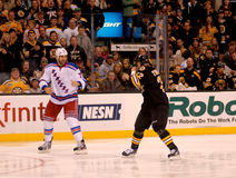 Mike Rupp and Shawn Thornton Square off (NHL) Royalty Free Stock Images