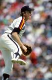 Mike Scott. Pitcher for Houston Astros. Image taken from color slide Royalty Free Stock Photo