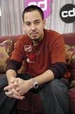 Mike Shinoda que aparece em EUA CD. Imagem de Stock Royalty Free
