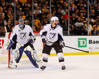 Mike Smith and Brett Clark, Tampa Bay Lightning Royalty Free Stock Photos