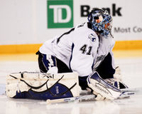 Mike Smith Tampa Bay Lightning goalie. Royalty Free Stock Photos